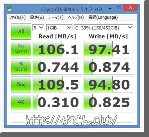 SSD換装前ベンチマーク