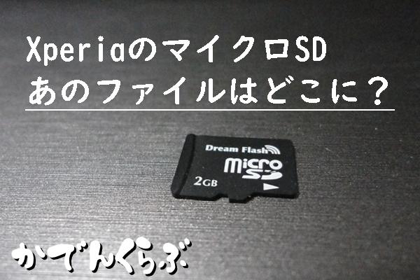マイクロSDのファイル