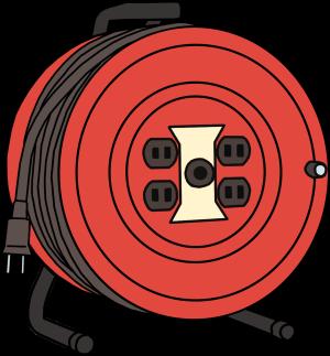 電気ドラムはコードを全て出した状態で使う
